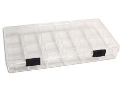 327 Caja plastico de 18 compartimentos rectangular transparente Innspiro