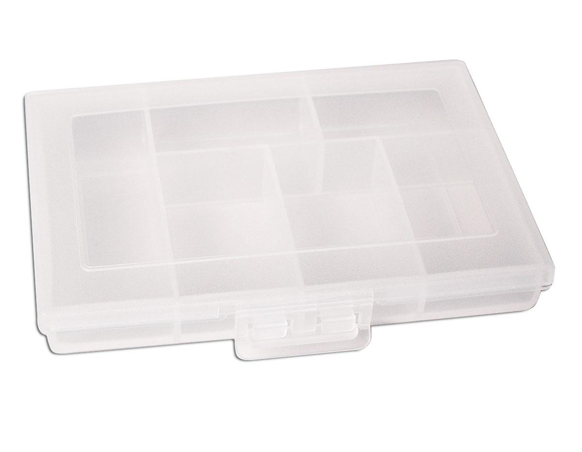330 Caja plastico de 6 compartimentos rectangular transparente Innspiro