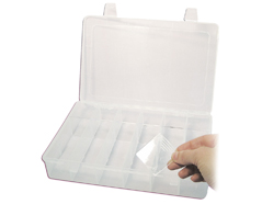331 Caja plastico de 6 compartimentos ampliable a 36 rectangular transparente Innspiro
