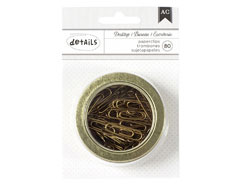 341004 Clips pequenos dorados American Crafts