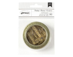 341008 Pinzas pequenas doradas glitter American Crafts