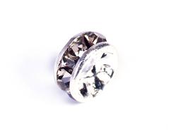 Z34801 34801 Z34601 34601 Z34401 34401 Z34101 34101 Cuenta rhinestone cristal checo rondel plateado black Innspiro