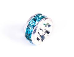 Z34802 34402 34602 Z34102 34102 Z34402 34802 Z34602 Cuenta rhinestone cristal checo rondel plateado aguamarina Innspiro