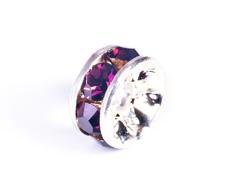 Z34824 34824 Z34624 34624 Z34424 34424 Z34124 34124 Cuenta rhinestone cristal checo rondel plateado amethyst Innspiro