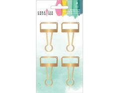 342628 Clips metalicos dorados Binder Clips American Crafts