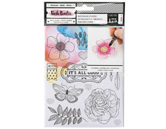 343888 Pegatinas para colorear Watercolor Stickers Vicky Boutin American Crafts