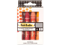 343908 Set 8 Art Crayons Vicky Boutin Warm American Crafts