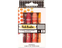 343908 Set 8 Art Crayons Vicky Boutin Warm American Crafts - Ítem