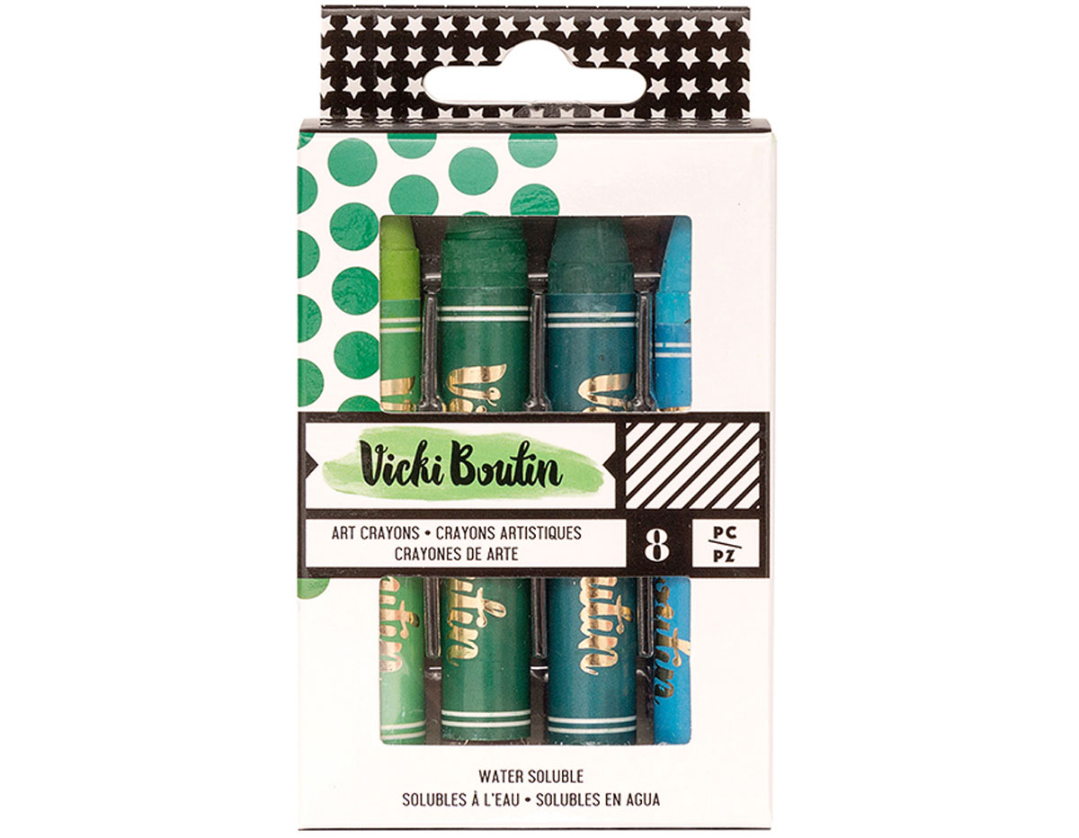343909 Set 8 Art Crayons Vicky Boutin Cool American Crafts