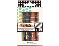 343910 Set 8 Art Crayons Vicky Boutin Neutrals American Crafts