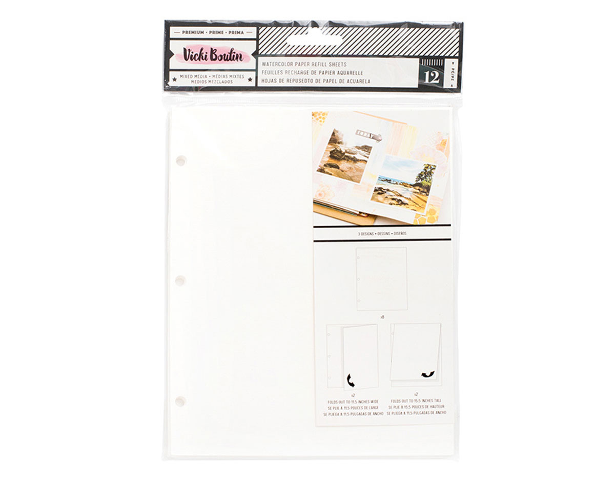 343929 Hojas acuarela para album Vicky Boutin Junque Journal American Crafts