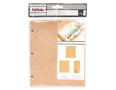 343930 Hojas kraft para album Vicky Boutin Junque Journal American Crafts