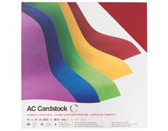 344850 Set 60 cartulinas colores primarios Smooth Primaries American Crafts
