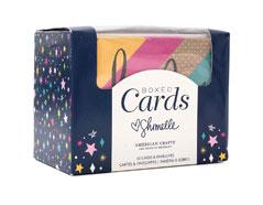 344970 Set 40 tarjetas con sobres Boxed Cards Shimelle Glitter Girl American Crafts