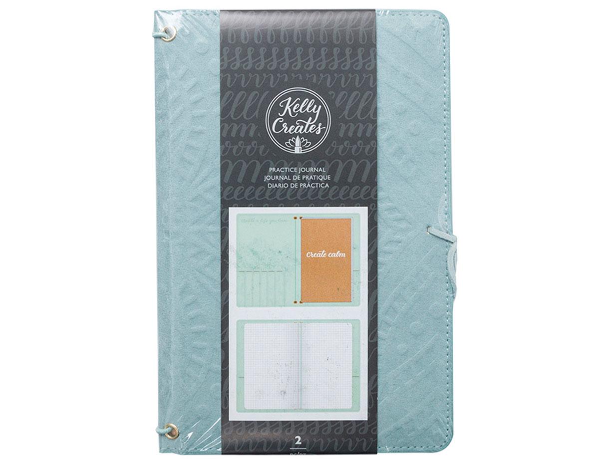 346411 Cubiertas de ante y Cuaderno Kelly Creates Practice Journal Teal American Crafts