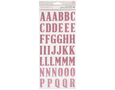 346629 Pegatinas alfabeto Alpha Thickers Pink Glitter American Crafts