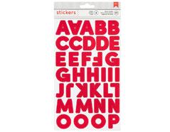 346639 Pegatinas alfabeto Alpha Stickers Red American Crafts