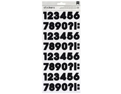 346644 Pegatinas alfabeto Number Stickers Black American Crafts