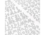 346653 Pegatinas alfabeto Alpha Script Stickers Silver Glitter American Crafts - Ítem2