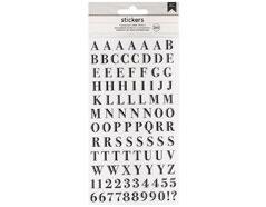346654 Pegatinas alfabeto Alpha Clear Stickers Black American Crafts