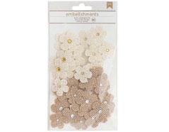 346680 Flores de arpillera Burlap Flowers American Crafts