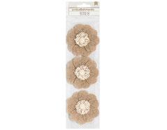 346681 Flores de arpillera con perla Burlap Flowers American Crafts