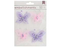 346682 Mariposas de alambre Wire Butterflies American Crafts