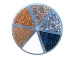346698 Set de purpurina Moxy Glitter Shaker Shimmering Neutrals 6 colores American Crafts - Ítem2