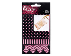 346706 Set 3 plantillas Moxy Stencils Square Shapes American Crafts