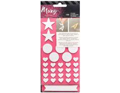 346707 Set 139 pegatinas goma EVA adhesivo doble cara Moxy Foam Stickers American Crafts