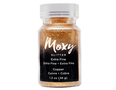 346736 Purpurina Moxy Extra Fine Glitter Copper American Crafts