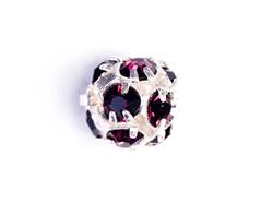 35624 Z35624 35824 Z35824 35124 Z35124 Cuenta rhinestone cristal checo bola plateada amethyst Innspiro