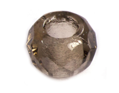 36201 Z36201 Cuentas cristal checo facetada con agujero grande crystal black Innspiro