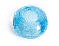 Z36202 36202 Cuentas cristal checo facetada con agujero grande aguamarina Innspiro