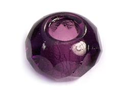 Z36224 36224 Cuentas cristal checo facetada con agujero grande amethyst Innspiro