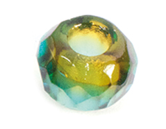 Z36291 36291 Cuentas cristal checo facetada con agujero grande combinacion topaz y azul Innspiro