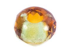 Z36292 36292 Cuentas cristal checo facetada con agujero grande combinacion topaz y verde Innspiro