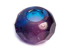 Z36293 36293 Cuentas cristal checo facetada con agujero grande combinacion light amethyst y azul cielo Innspiro