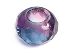 Z36294 36294 Cuentas cristal checo facetada con agujero grande combinacion amethyst y turquesa Innspiro