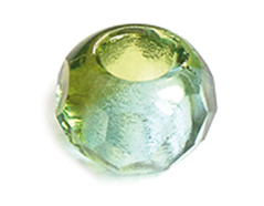 Z36295 36295 Cuentas cristal checo facetada con agujero grande combinacion olivine y azul cielo Innspiro