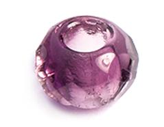 Z36296 36296 Cuentas cristal checo facetada con agujero grande combinacion crystal y amethyst Innspiro