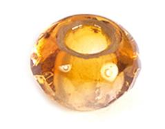 Z36297 36297 Cuentas cristal checo facetada con agujero grande combinacion topaz y light amethyst Innspiro