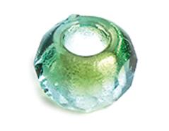 Z36298 36298 Cuentas cristal checo facetada con agujero grande combinacion verde y light aquamarine Innspiro