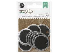 366608 Etiquetas redondas DIY Shop Round Chalkboard Cards American Crafts