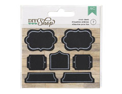 366632 Set 7 etiquetas DIY Shop Chalk Shapes American Crafts
