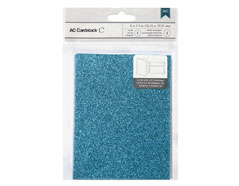 366885 Set 8 tarjetas con sobres Glittered Cards Peacock American Crafts