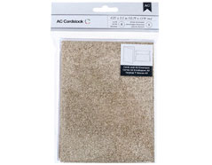 366888 Set 8 tarjetas con sobres Glittered Cards Gold American Crafts