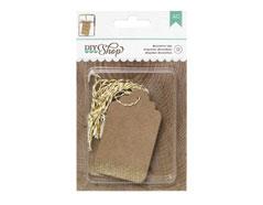 369038 Etiquetas DIY Shop Kraft Glitter Tags American Crafts