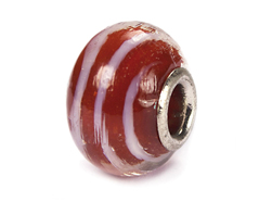 Z3703 3703 Cuenta cristal DO-LINK bola rojo con rayas Innspiro