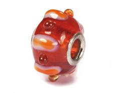 Z3704 3704 Cuenta cristal DO-LINK bola con relieve rojo Innspiro